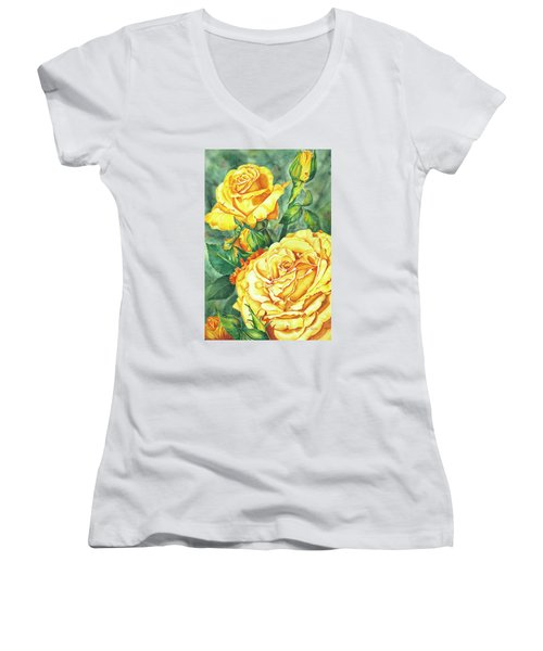 Mom's Golden Glory Women's V-Neck