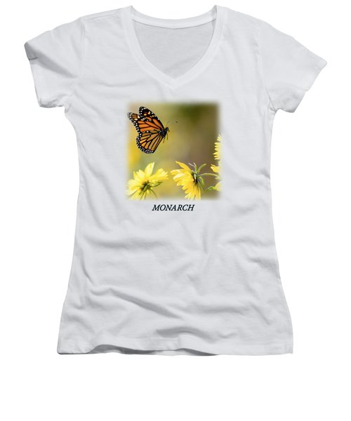 Monarch Butterfly T-shirt Women's V-Neck T-Shirt