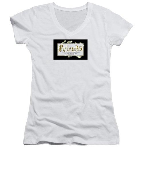 Money Friends Women's V-Neck T-Shirt