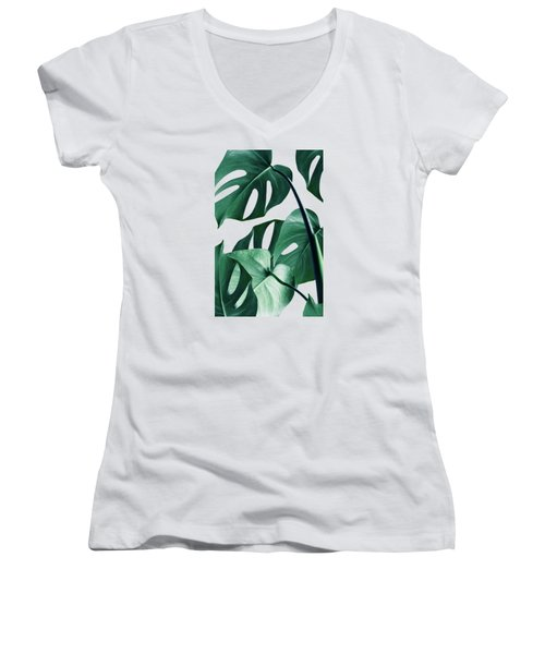 Monstera Women's V-Neck T-Shirt