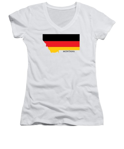 Montana German Women's V-Neck (Athletic Fit)