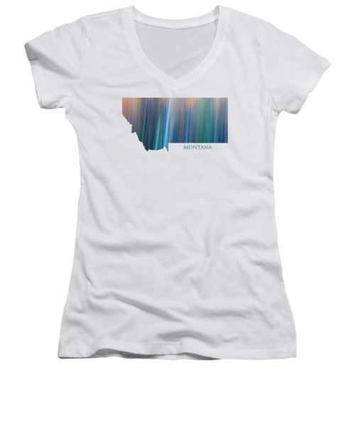 Montana In Pastel Women's V-Neck T-Shirt