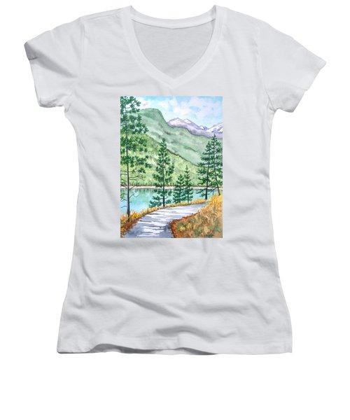 Montana - Lake Como Series Women's V-Neck T-Shirt