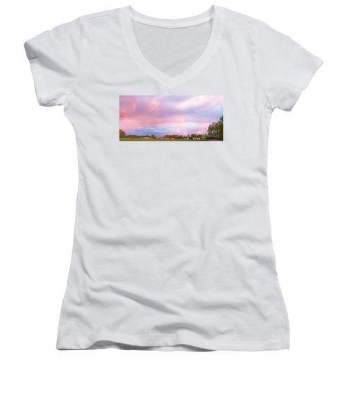 Montana Sunset 1 Women's V-Neck
