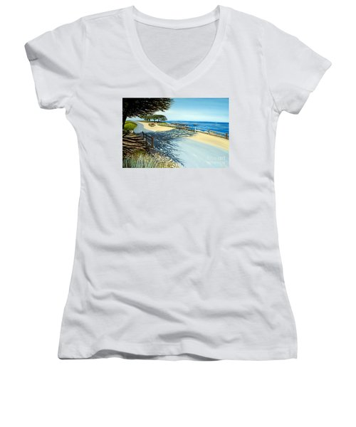 Monterey Shadows Women's V-Neck T-Shirt