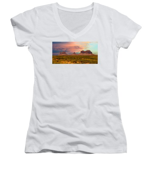 Monument Valley Landscape Vista Women's V-Neck