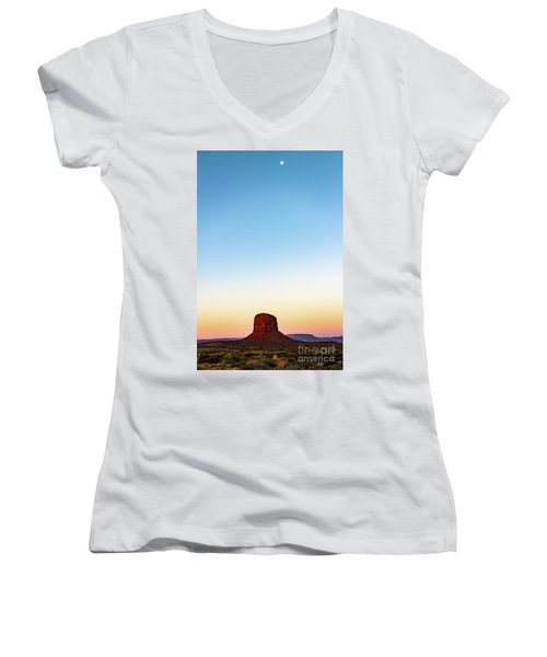 Monument Valley Morning Glory Women's V-Neck (Athletic Fit)