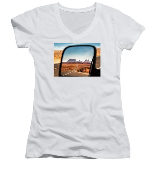 Monument Valley Rearview Mirror Women's V-Neck (Athletic Fit)