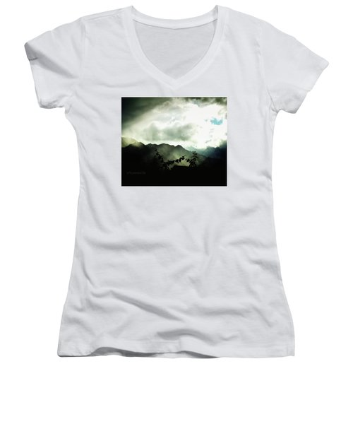 Moody Weather Women's V-Neck (Athletic Fit)