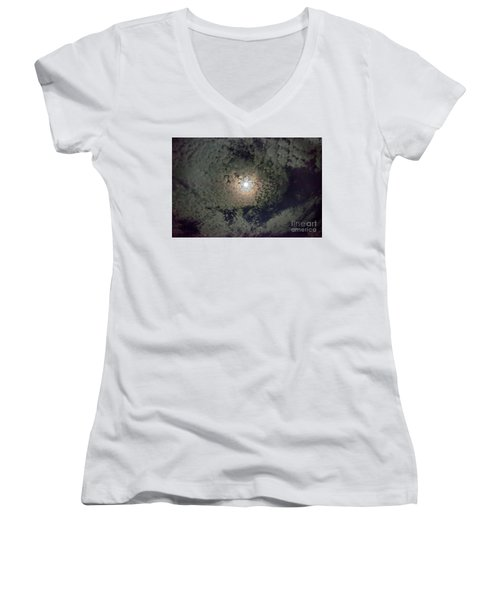 Moon And Clouds Women's V-Neck