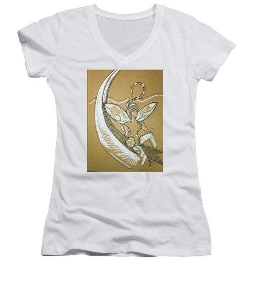 Moon Fairy Women's V-Neck T-Shirt