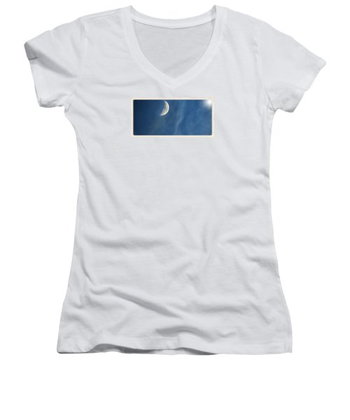 Moon Roof  Women's V-Neck T-Shirt (Junior Cut)