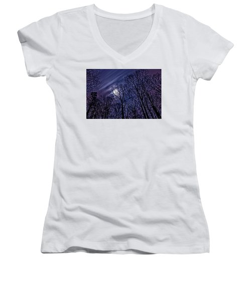 Moonlight Glow Women's V-Neck (Athletic Fit)