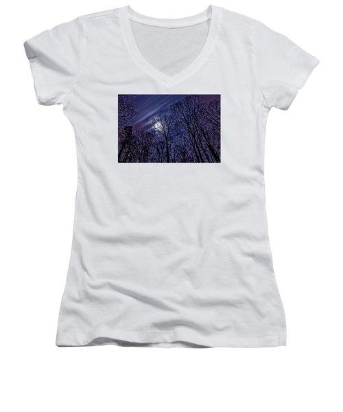 Moonlight Glow Women's V-Neck T-Shirt