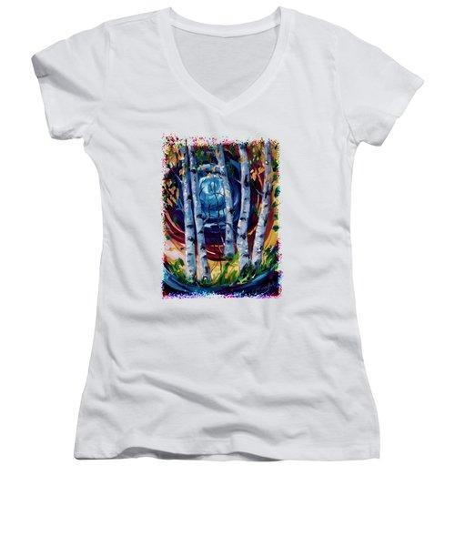 Moonlight Sonata Women's V-Neck T-Shirt (Junior Cut)