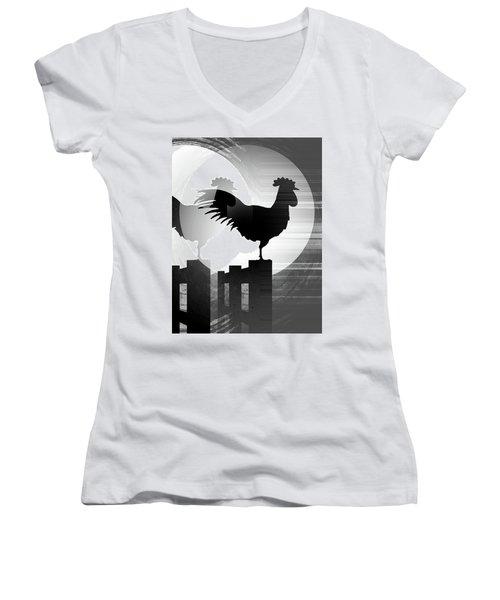 Moonrise Reflection Women's V-Neck