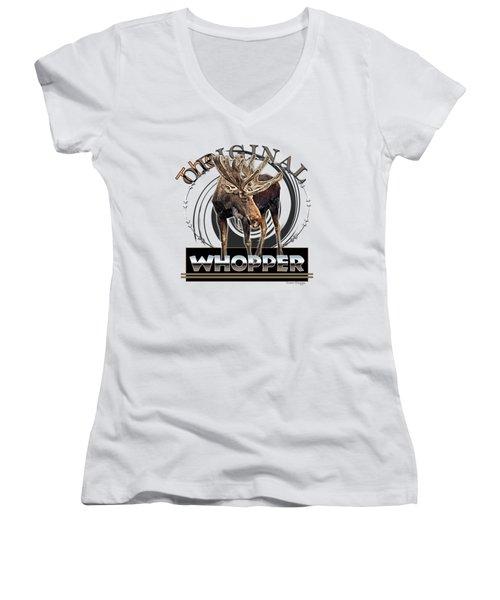 Moose Whooper Women's V-Neck