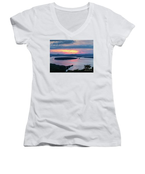 Mooselookmeguntic Lake In The Last Light Of Day - Rangeley Me  -63430 Women's V-Neck