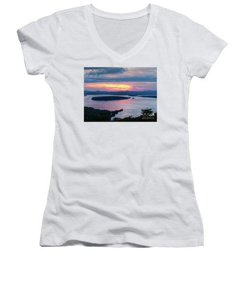 Mooselookmeguntic Lake In The Last Light Of Day - Rangeley Me  -63430 Women's V-Neck