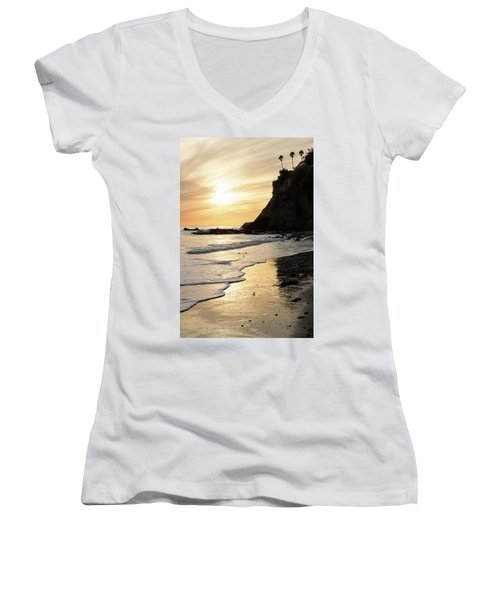 More Mesa Sunset West Women's V-Neck T-Shirt