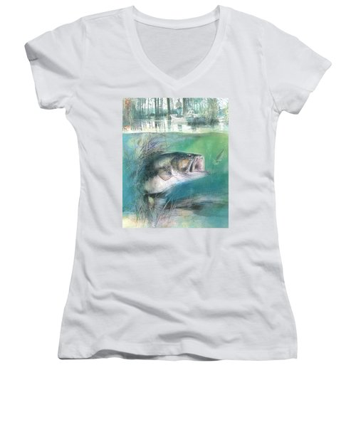 Morning Catch Women's V-Neck (Athletic Fit)