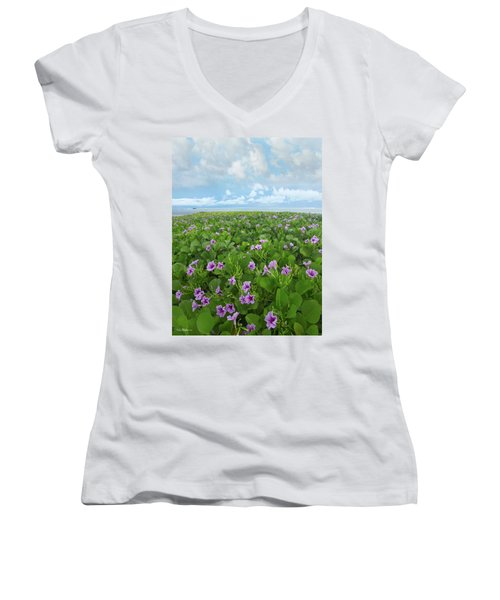 Morning Glories Women's V-Neck (Athletic Fit)