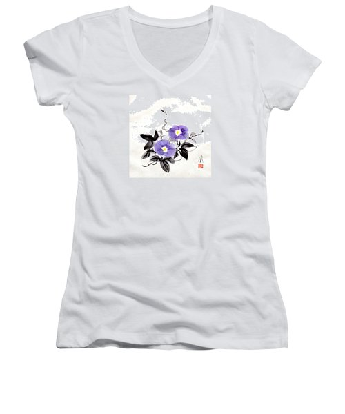Morning Glory Women's V-Neck T-Shirt