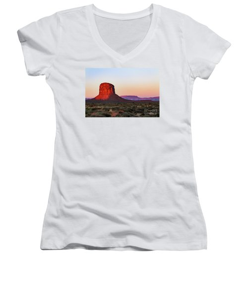 Morning Glory In Monument Valley Women's V-Neck (Athletic Fit)