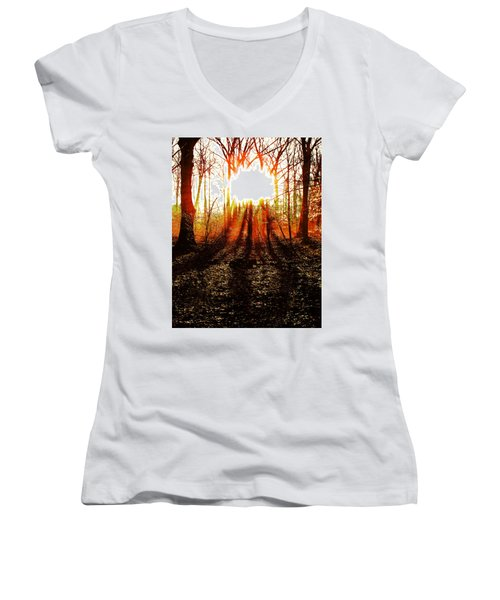 Morning Glow Women's V-Neck (Athletic Fit)