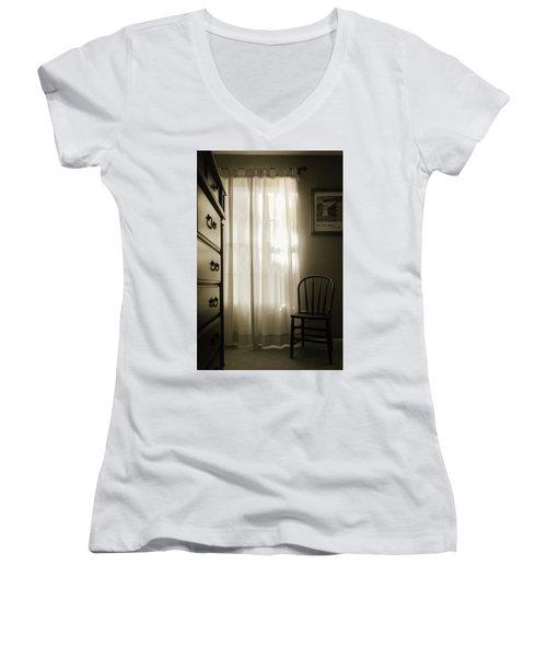 Morning Light Through The Window Women's V-Neck T-Shirt