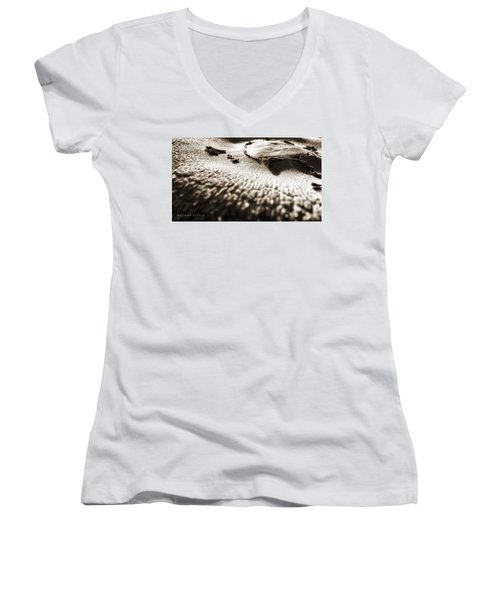 Morning Mushroom Top Women's V-Neck (Athletic Fit)
