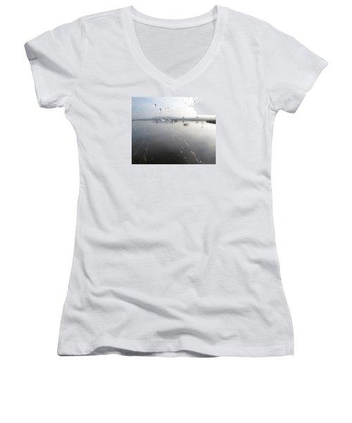 Morning Pearls Women's V-Neck T-Shirt
