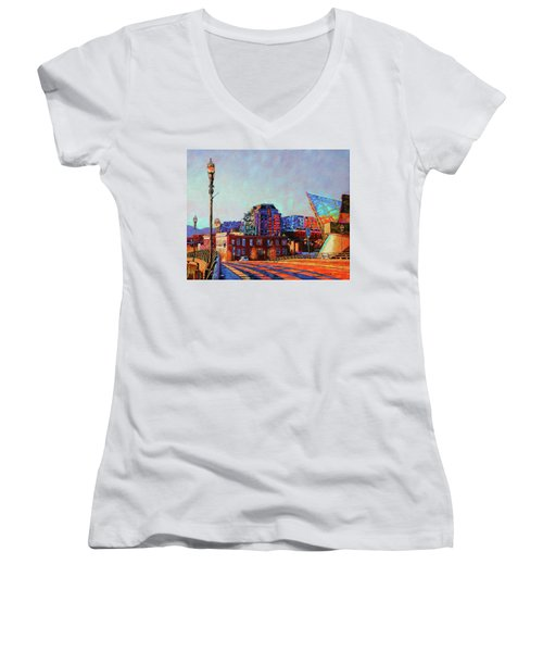 Morning Rush - The Corner Of Salem Avenue And Williamson Road In Roanoke Virginia Women's V-Neck T-Shirt