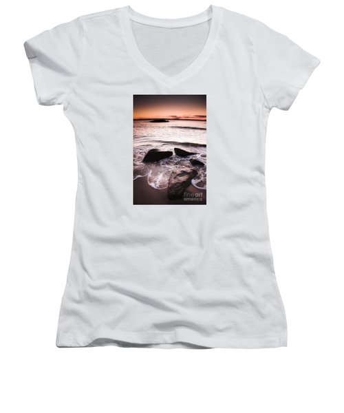 Women's V-Neck T-Shirt featuring the photograph Morning Tide by Jorgo Photography - Wall Art Gallery
