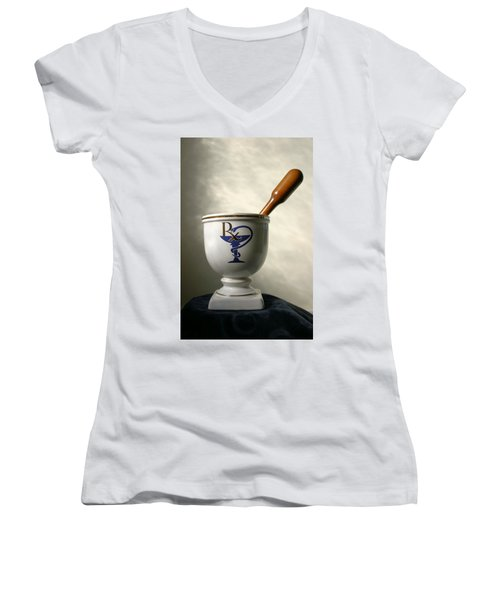 Mortar And Pestle Women's V-Neck (Athletic Fit)