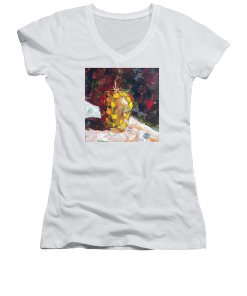 Mosaic Apple Women's V-Neck T-Shirt