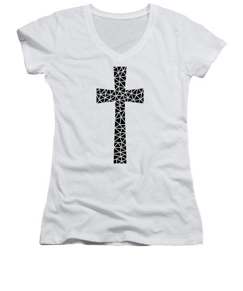 Mosaic Cross  Women's V-Neck