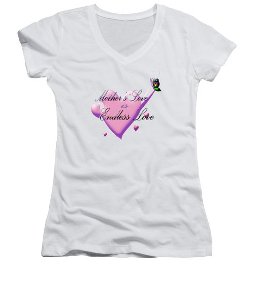 Mother's Love Women's V-Neck (Athletic Fit)