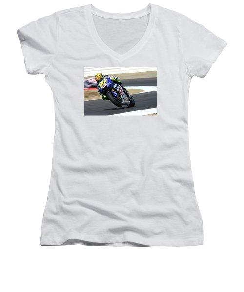 Motorcycle Racing Women's V-Neck
