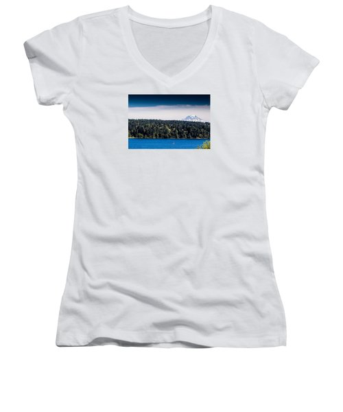 Mount Rainier Women's V-Neck (Athletic Fit)