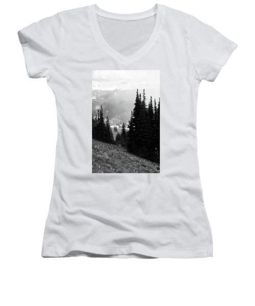 Mountain Flowers Women's V-Neck