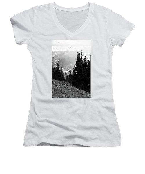 Mountain Flowers Women's V-Neck T-Shirt