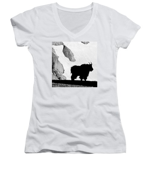 Mountain Goat Shadow Women's V-Neck (Athletic Fit)