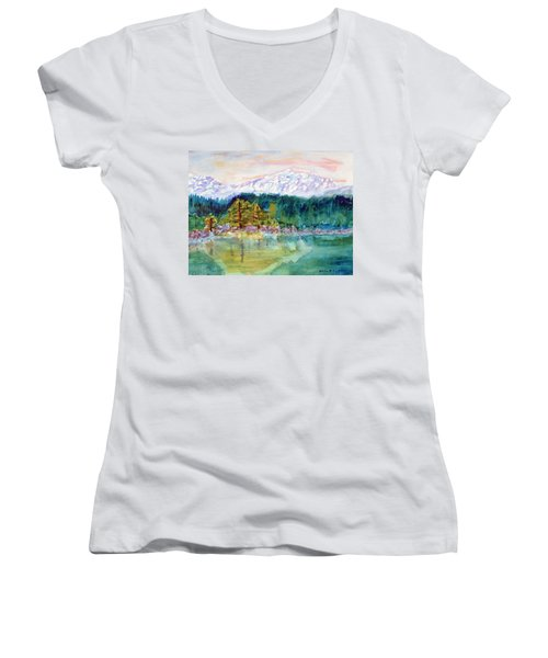 Mountain Lake Women's V-Neck T-Shirt