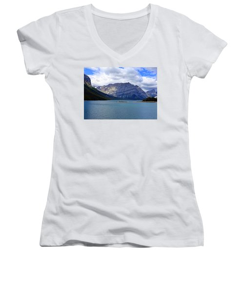 Upper Kananaskis Lake Women's V-Neck (Athletic Fit)