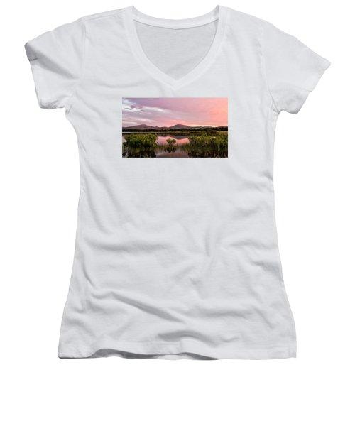 Mountain Sunrise Women's V-Neck T-Shirt