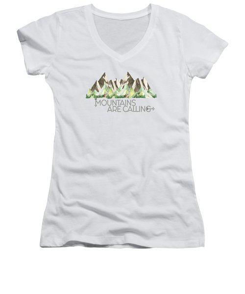 Mountains Are Calling Women's V-Neck