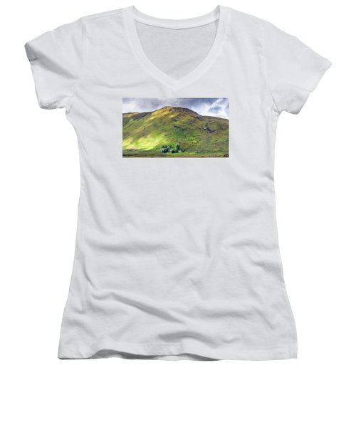 Mountains Of Ireland Women's V-Neck (Athletic Fit)