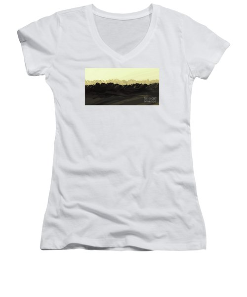 Mountains Of The Mohave Women's V-Neck (Athletic Fit)