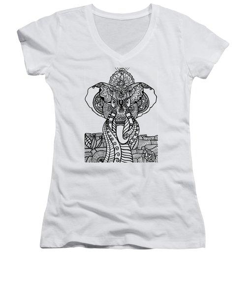 Mr. Elephante Women's V-Neck T-Shirt